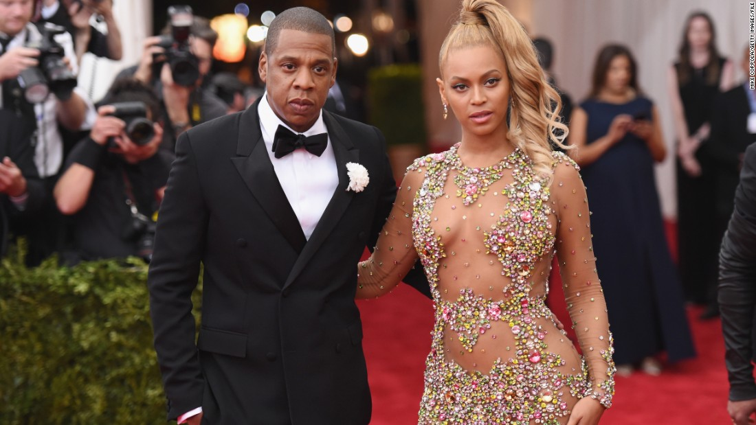 Jay Z and Beyonce arrive at the Met Gala in New York in May 2015.