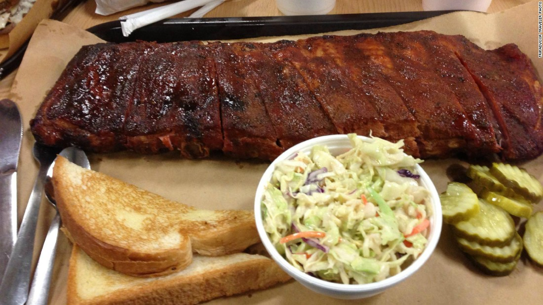 Fall-off-the-bone ribs helped earn a No. 2 ranking for Joe's Kansas City Bar-B-Que.