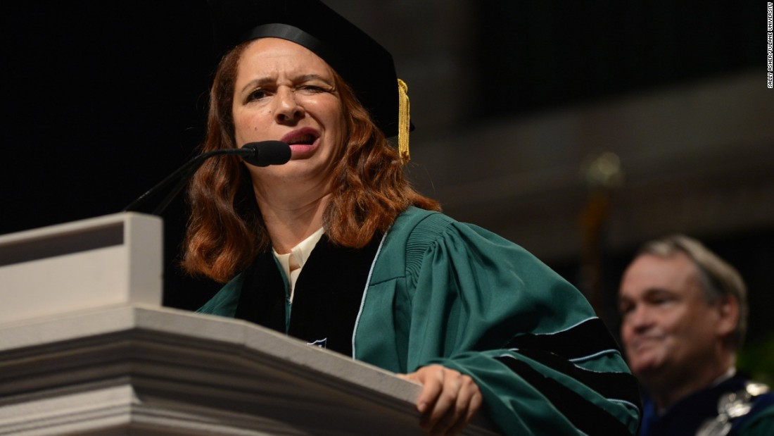 Comedian Maya Rudolph addressed graduates of Tulane University in New Orleans on May 16.