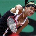 mary pierce 2000 french open serve