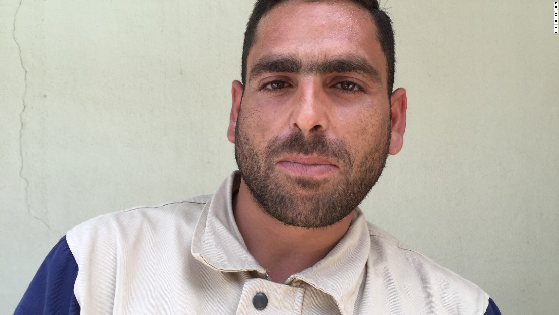 "Ibrahim Alzoughpi, 25. Blacksmith. ""A street area was attacked with six missiles. We rescued two brothers, from a room deep inside the house and off the street. Their parents and other two brothers died, because they were in a room closer to the street."""