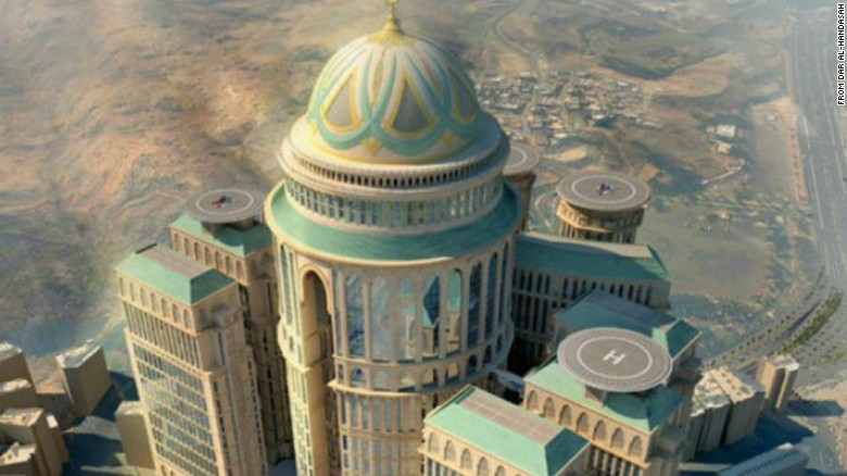 Mecca to soon hold the world's largest hotel