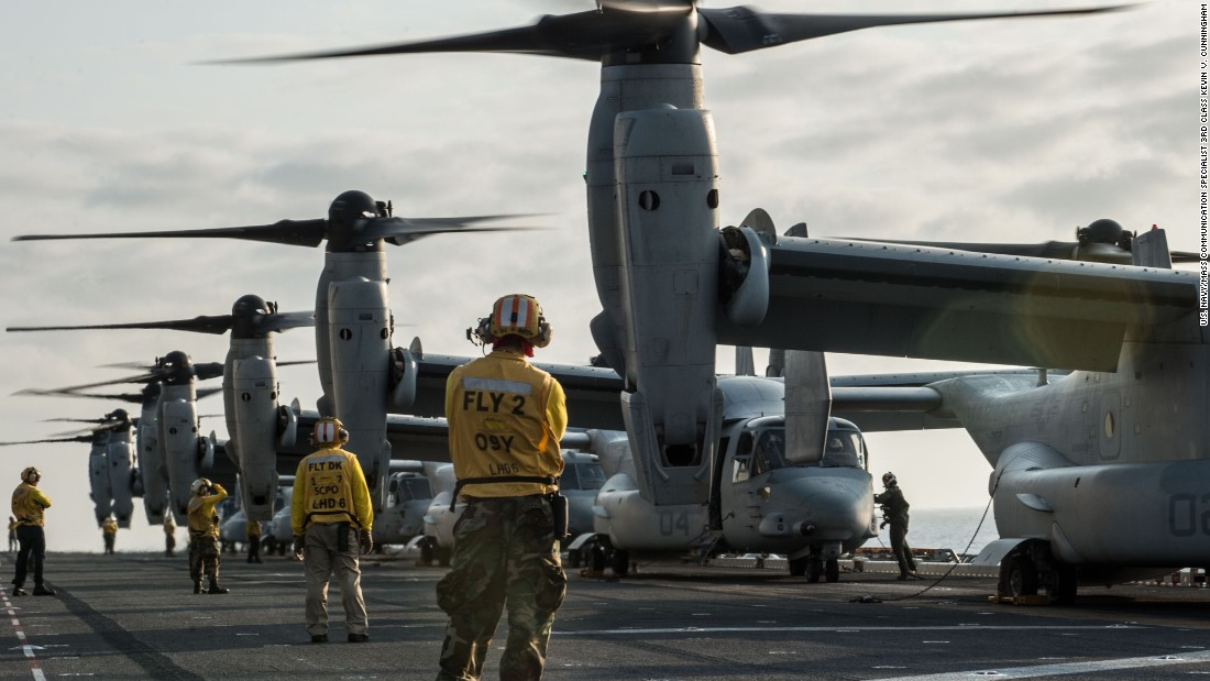 <strong>Dec. 9 2015: </strong>A Marine MV-22B landed short while recovering to a ship. No injuries. $ 2,000,001 in damage.