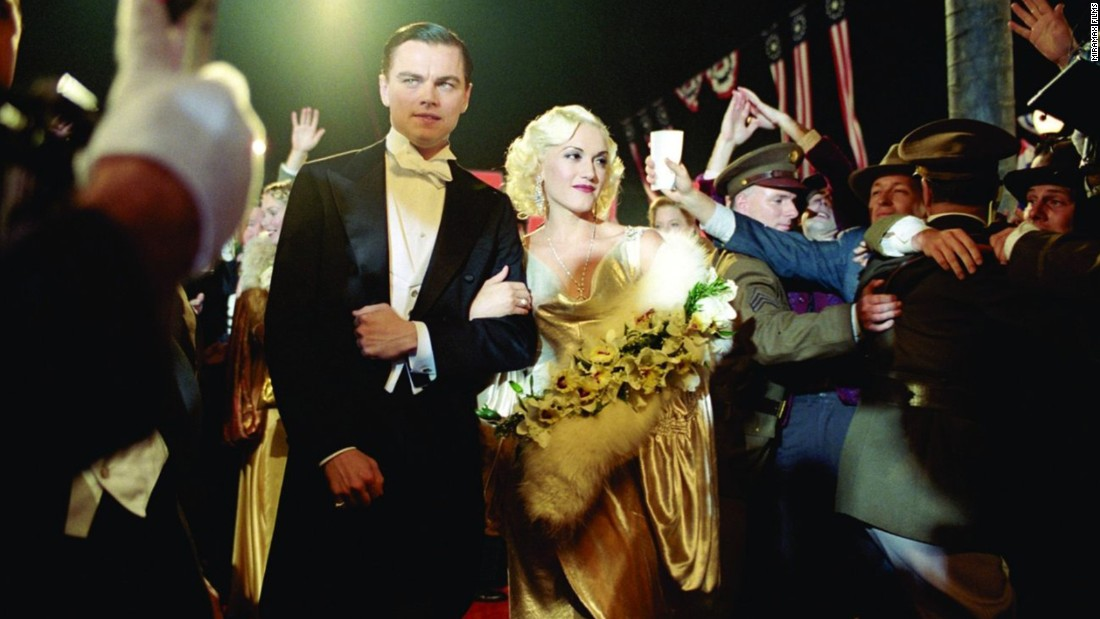 "DiCaprio embodied tycoon Howard Hughes (here with Gwen Stefani) in ""The Aviator"" in 2004."