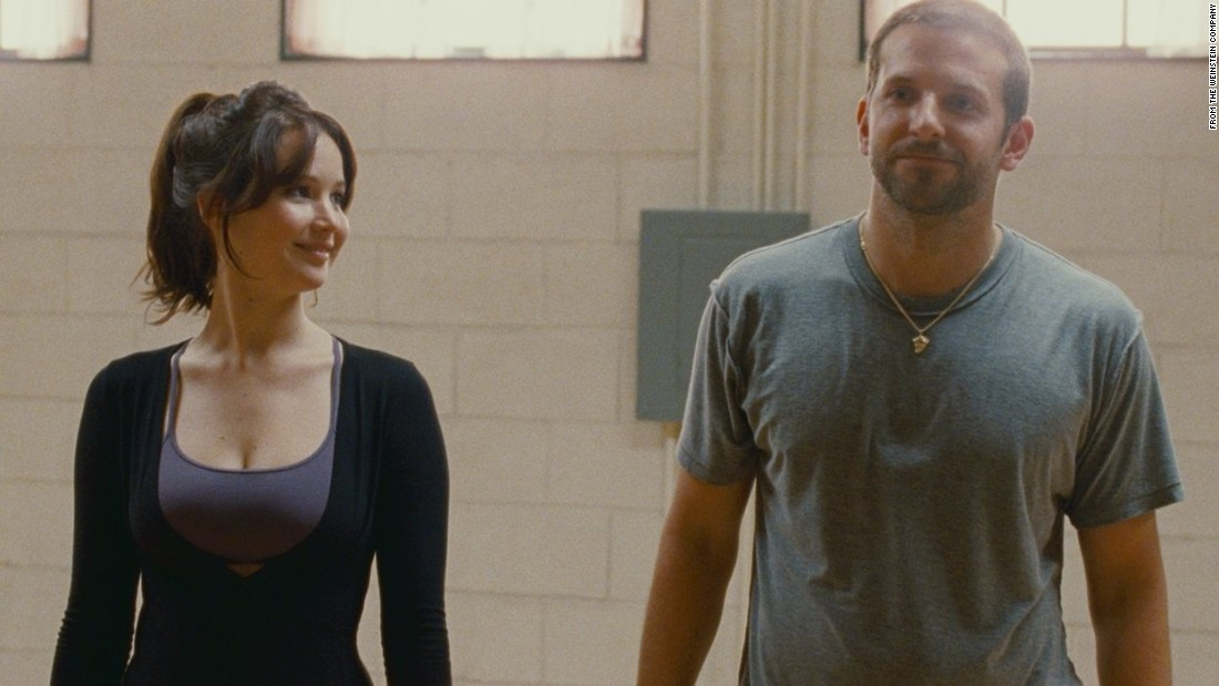 "Bradley Cooper was a youthful-looking 37 when he appeared in ""Silver Linings Playbook."" His co-star, Jennifer Lawrence, was a much more youthful 22."