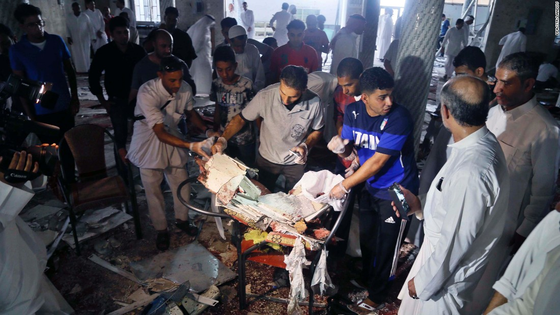"People search through debris after an explosion at a Shiite mosque in Qatif, Saudi Arabia, on Friday, May 22. ISIS <a href=""http://edition.cnn.com/2015/05/22/middleeast/saudi-arabia-mosque-blast/index.html"" target=""_blank"">claimed responsibility for the attack,</a> according to tweets from ISIS supporters, which included a formal statement from ISIS detailing the operation."