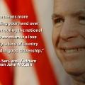 Memorial Day McCain quote
