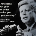 Memorial Day- JFK Quote