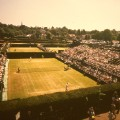 Aerial view outer courts Wimbledon1960s