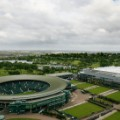 Wimbledon general view Centre Court roof closed
