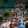 Wimbledon day one crowds tennis 2014