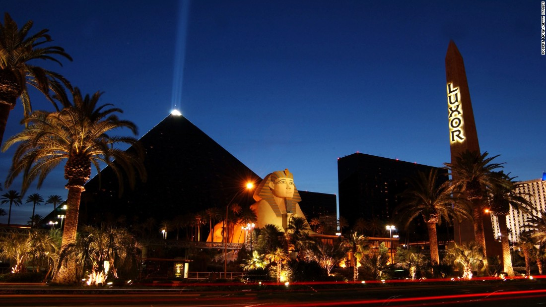 The Luxor Hotel, an Egyptian-themed casino resort located on the Las Vegas Strip, has 4,400 rooms, making it the third-largest in the world.