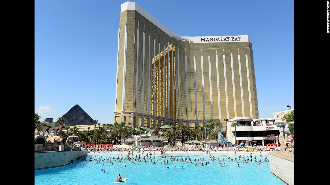 The Mandalay Bay Resort in Las Vegas is the fourth-largest hotel, with 4,332 rooms (and an aquarium, too).