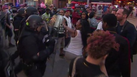 Protests, arrests follow acquittal of police officer