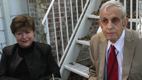 John Nash and wife Alicia Nash in 2012.