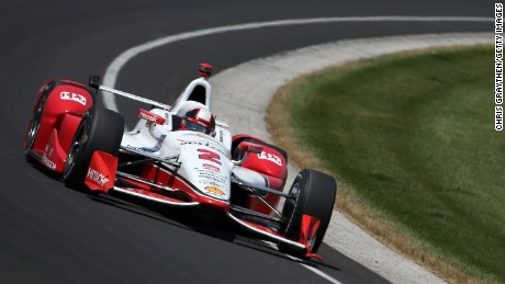 INDIANAPOLIS, IN - MAY 24:  Juan Pablo Montoya of Colombia driver of the #2 Team Penske Chevrolet Dallara drives during the 99th running of the Indianapolis 500 mile race at Indianapolis Motorspeedway on May 24, 2015 in Indianapolis, Indiana.  (Photo by Chris Graythen/Getty Images)