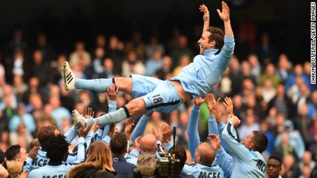 Manchester City give Lampard a send off after his last game for the club