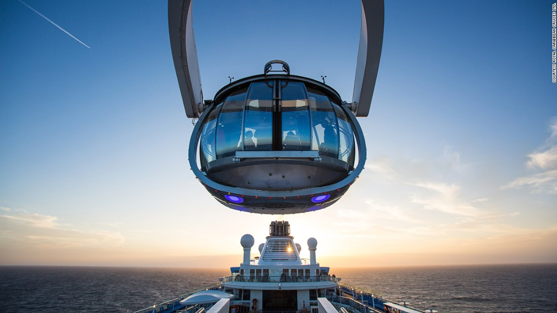Kulovaara helped launch the world's first smartship -- Quantum of the Seas -- in 2014. This monster has virtual balconies, skydiving at sea, a North Star viewing pod (pictured) and much more.