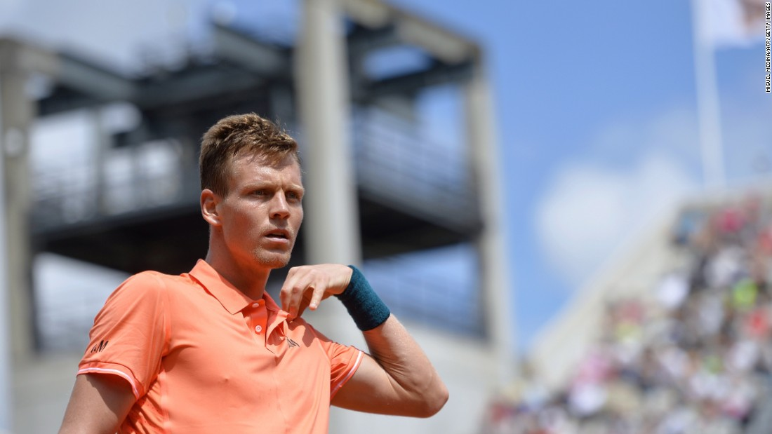 Tomas Berdych, a former French Open semifinalist, received a favorable draw when he was placed in the bottom half. The Czech beat a Japanese qualifier in straight sets.