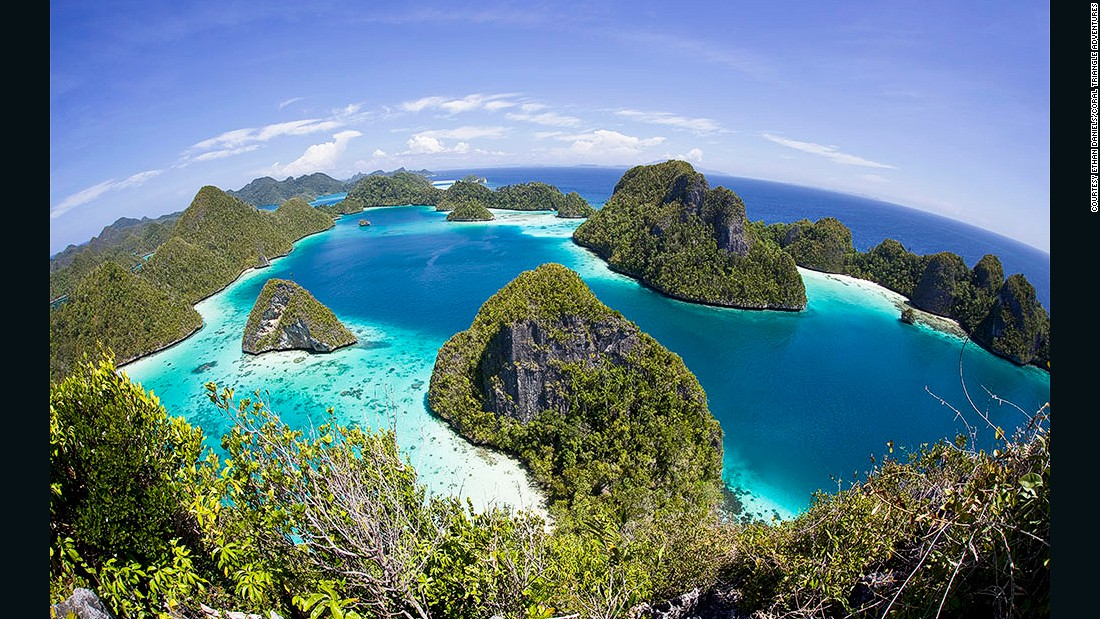 Wayag Archipelago in Raja Ampat: the view above sea is almost as spectacular as it is below.