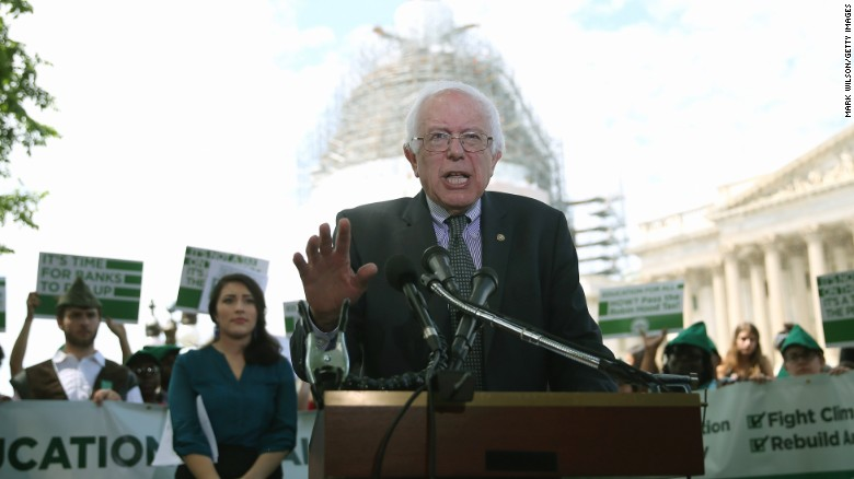 Bernie Sanders holds first major rally