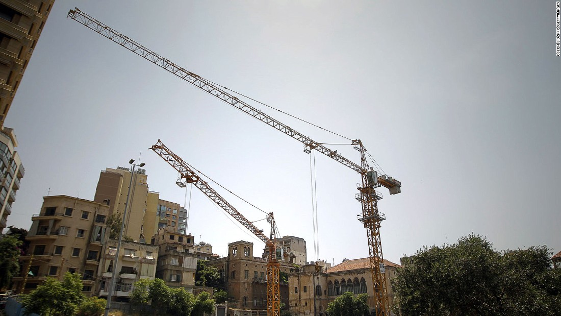 Beirut's skyline is continually crowded with construction cranes, building ever more towers filled with apartments that the majority of the city's residents can't afford.