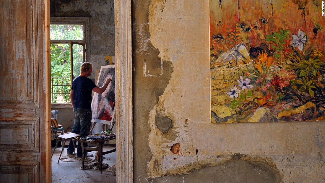 Painter Tom Young came across the crumbling house that would become Villa Paradiso as he was walking home one night. He struck a deal with its owners to use it as an exhibition space.