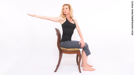 Seated Twist with Reach Back