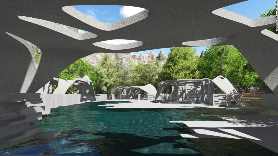 Architect designs giant 3d printed estate 3d model sites