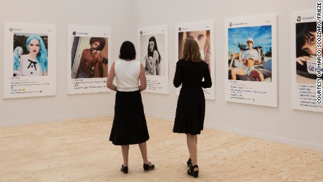 """New Portraits"" was exhibited as a part of the recent Frieze Art Fair in New York."