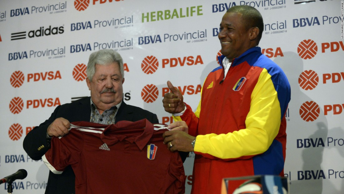 The 68-year-old Rafael Esquivel is a current CONMEBOL executive committee member and Venezuelan soccer federation president.