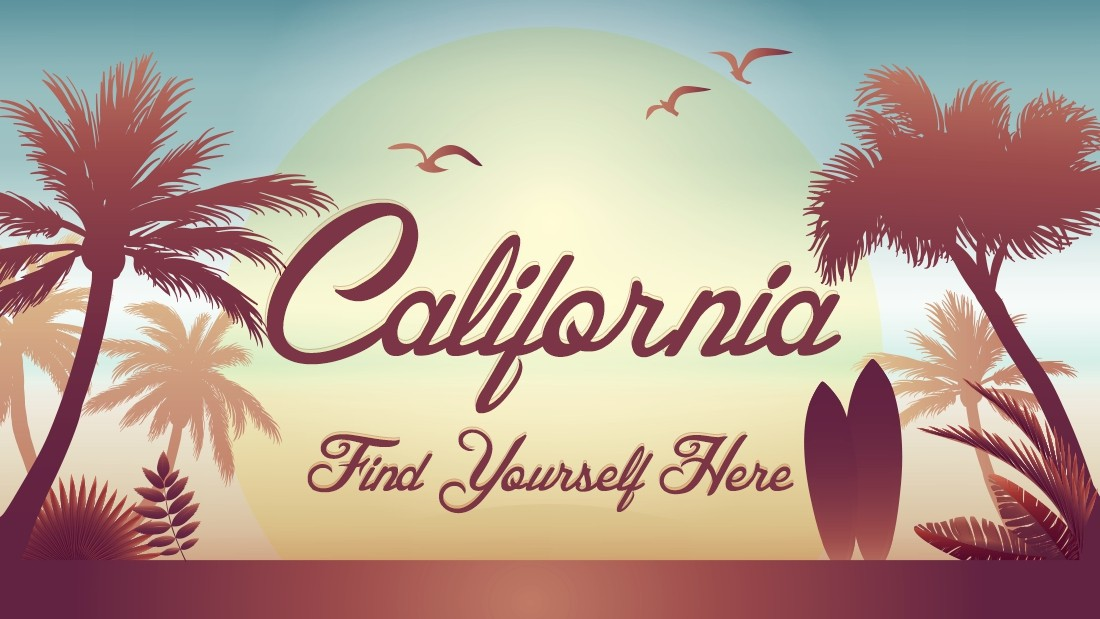 "In a country as diverse as the United States, each state needs its own slogan to encapsulate the region's unique identity. Samantha North says California's slogan, ""find yourself here,"" fits perfectly with the state's wanderlust image."