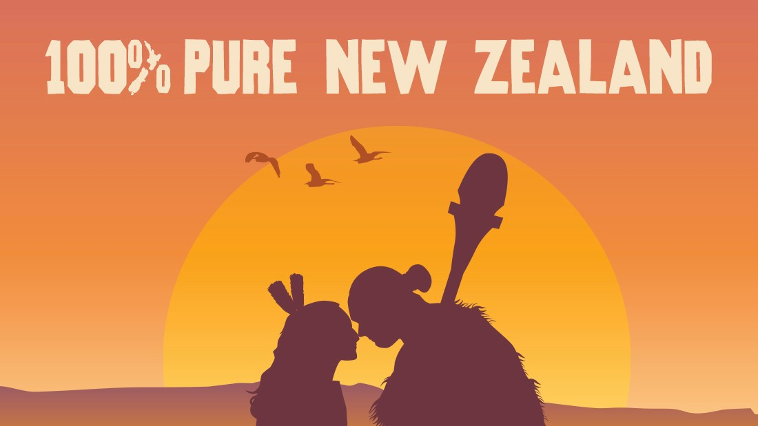 "New Zealand's old slogan, 100% Pure, was a ""big success,"" according to Lansky.<br /><br />""It caught on and became iconic,"" he says, adding that of late, the country has found it difficult to marry the old motif of authenticity with its new image as the place where Lord of the Rings was shot. <br /><br />""They're trying to balance those two things and they don't really fit,"" he says."