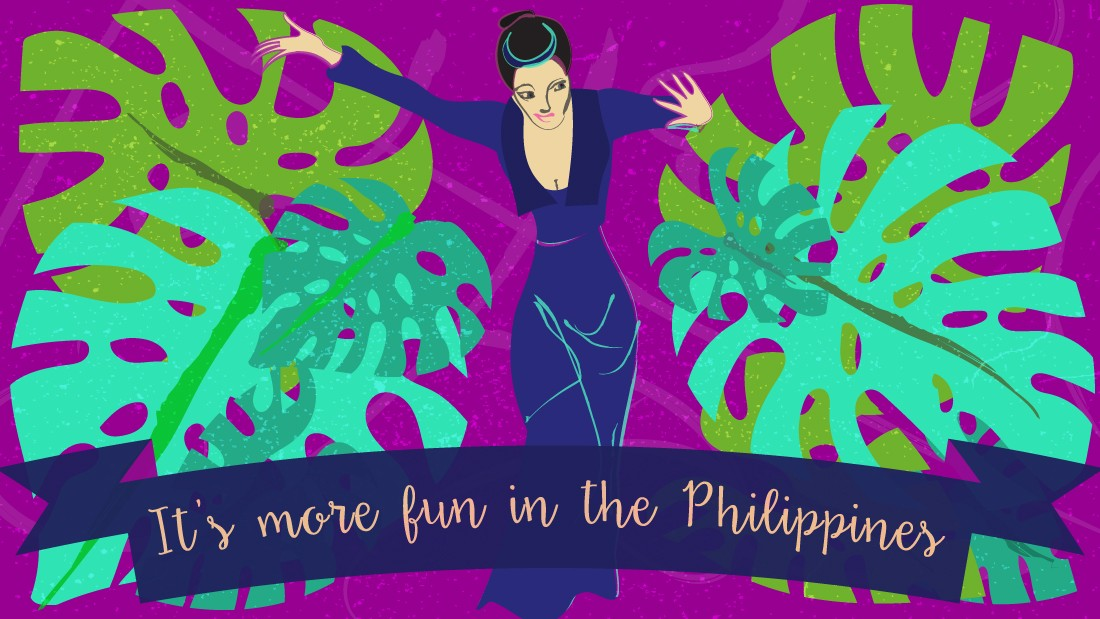 "Residents of the Philippines have a reputation for maintaining a sunny outlook, which is what their tourism board decided to bank on with their slogan. ""It's cheery and I think often the Philippines are seen as a cheerful place with cheerful people,"" says North. ""That's a good theme to attract to a destination,"" she adds."
