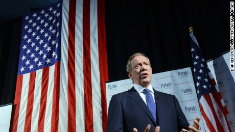 George Pataki is interviewed prior to his White House bid announcement.