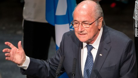 ZURICH, SWITZERLAND - MAY 28: FIFA President Joseph S. Blatter speaks during the 65th FIFA Congress Opening Ceremony at Theater 11 on May 28, 2015 in Zurich, Switzerland. (Photo by Philipp Schmidli/Getty Images)