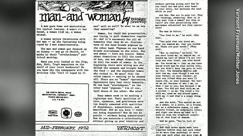 Bernie Sanders wrote about rape fantasies in 1970s