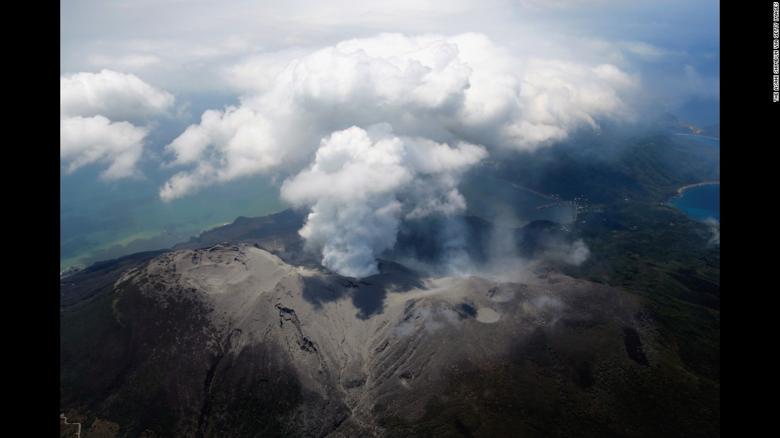 "Mount Shindake spews ash on Kuchinoerabu Island in Yakushima, Japan, on Friday, May 29. The volcano <a href=""http://www.cnn.com/2015/05/29/asia/japan-volcano-evacuation/index.html"" target=""_blank"">erupted shortly before 10 a.m. local time</a>, the Japan Meteorological Agency said."