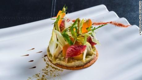 L'Atelier de Joël Robuchon's eggplant salad.