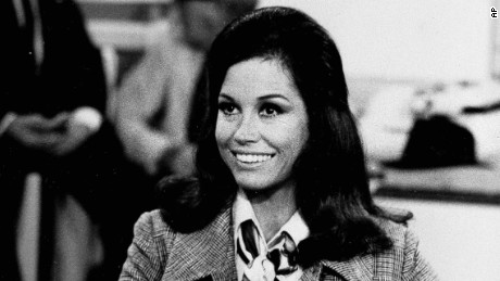 "Actress Mary Tyler Moore appears in character as Mary Richards in ""The Mary Tyler Moore Show""  on August 1970."