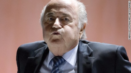 FIFA President Sepp Blatter reacts after a break during the 65th FIFA Congress in Zurich on May 29, 2015 in Zurich. Sepp Blatter told members of world football's governing body on Friday that they must help 'fix FIFA right now' amidst allegations of corruption.