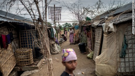 SITTWE, BURMA - MAY 25: Inside of the IDP camps, May 25, 2015 in Sittwe, Burma. Since 2012, the minority group of the Rohingya people are forced to live in IDP camps, in Rakhaing State in western Burma. They have been denied citizenship in their homeland Burma and are accused of being illegal migrants from neighbouring Bangladesh. Thousands of Rohingays try to escape the misery in the IDP camps across the Andaman Sea on small fishing boats hoping to reach Malaysia. Many of those who embark on the perilous journey by sea fall into the hands of human traffickers who charge high prices in return for their freedom. (Photo by Jonas Gratzer/Getty Images)