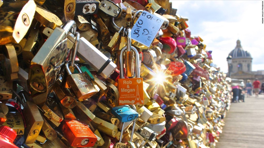 "Pittsburgh couple Megan and Rob Easley sealed their love with a lock on the bridge commemorating their wedding date. After Megan heard the locks would be taken down, she posted on <a href=""https://www.facebook.com/photo.php?fbid=1657727071126397&set=a.1383148995250874.1073741828.100006673595710&type=1&theater"" target=""_blank"">Facebook</a>, ""Our love will survive!"""
