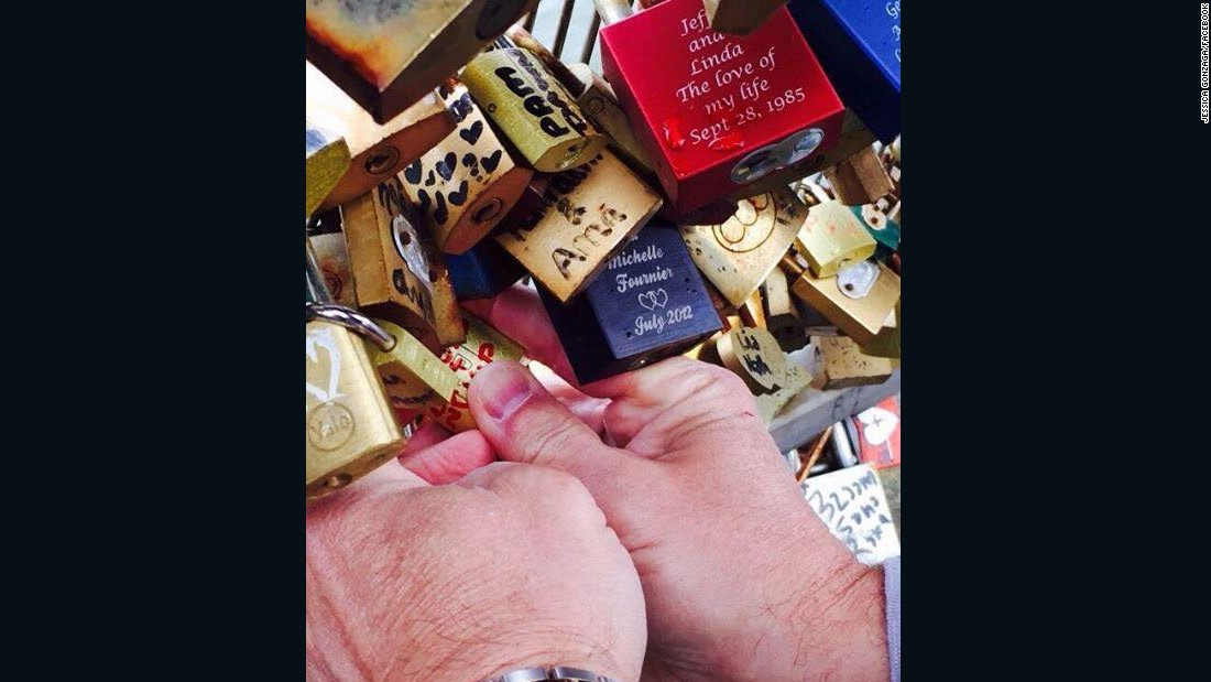 """I personally think the lock bridge is beautiful with all the love locks,"" said <a href=""https://www.facebook.com/photo.php?fbid=819661421444296&set=p.819661421444296&type=1&theater"" target=""_blank"">Jessica Gonzaga</a>, who sealed her love in May."