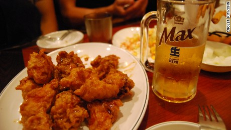 Chimaek -- the term used to describe the fried chicken (chi) and beer (maekju) combo -- has been thriving in South Korea for years but the world is only now catching on.
