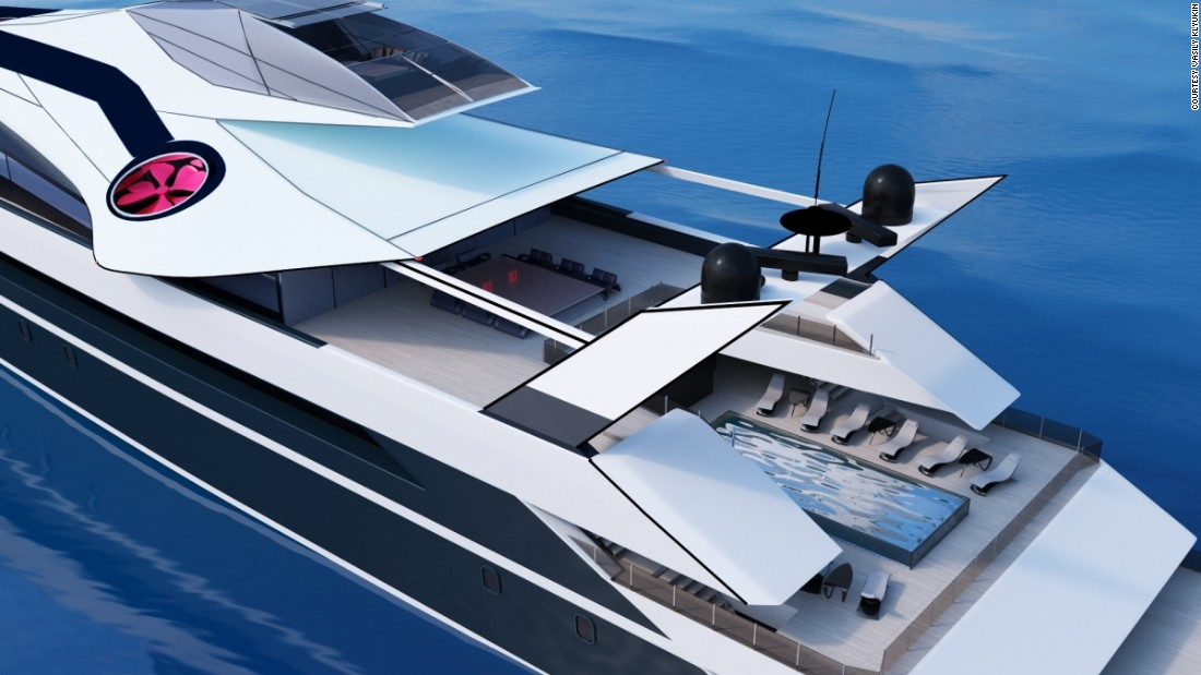 The Monaco 2050 would still have room for traditional superyacht facilities such as an on-board swimming pool.
