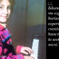 #educationhelpedme Milena Veselinovic