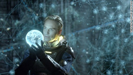 "Michael Fassbender stars in the 2012 sci-fi mystery ""Prometheus."""