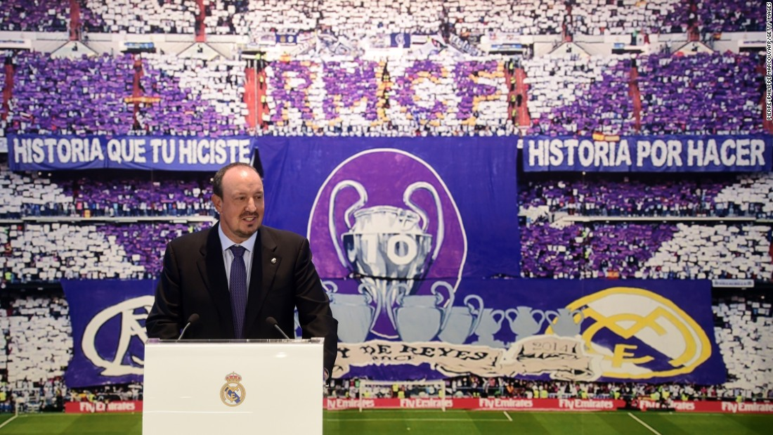 Benitez was appointed Real Madrid's new coach in June 2015, the Spaniard signing a three-year deal at the Santiago Bernabeu.