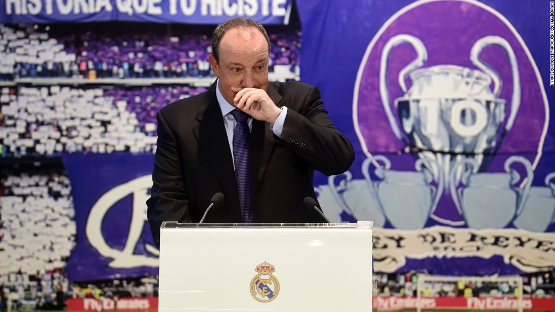 An emotional Benitez, returning to the club where he began his coaching career by taking charge of its youth team, shed a tear during his official unveiling.